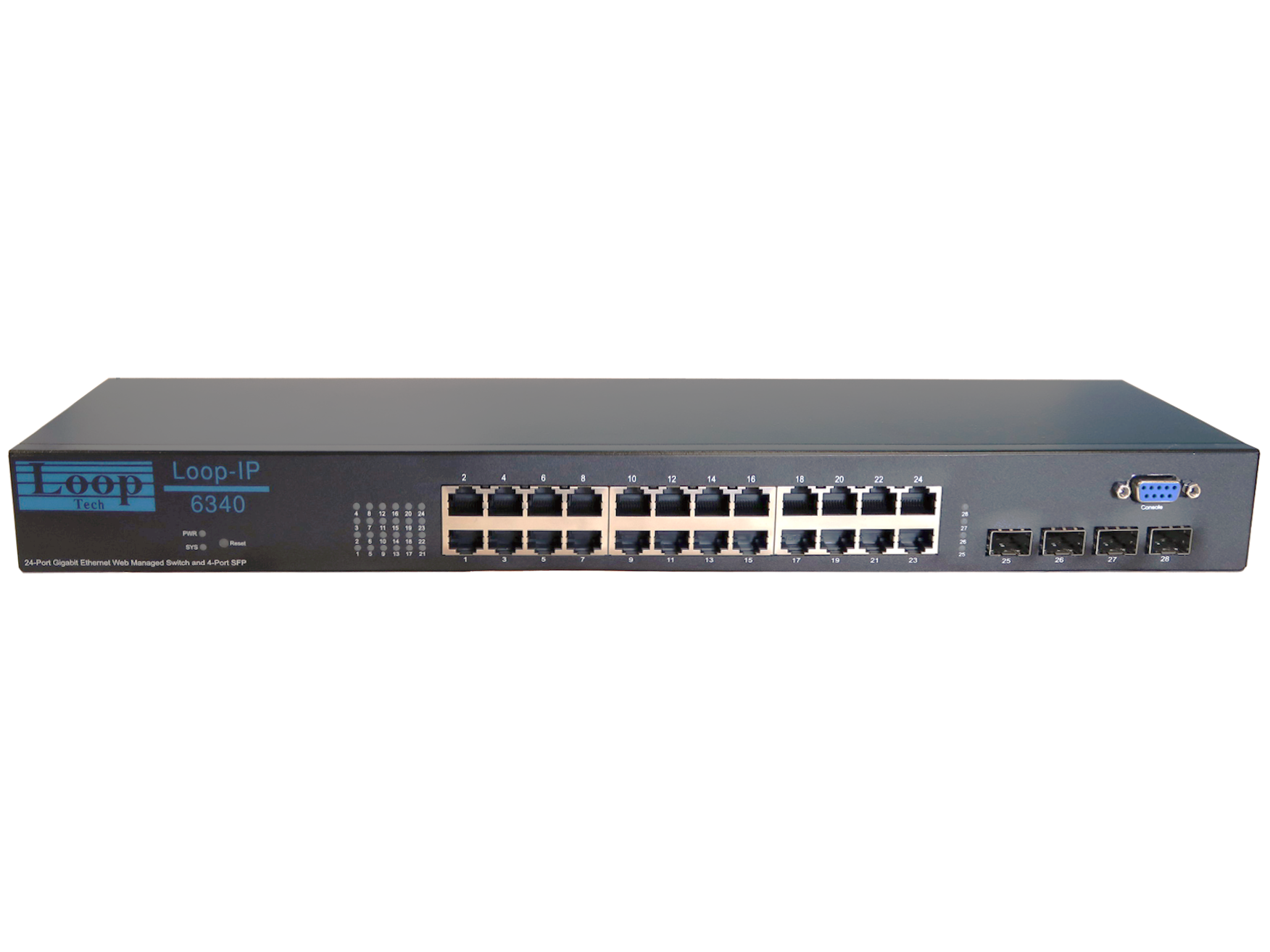L2 Smart Managed Ethernet Switch with 24 GbE / 4 SFP Ports